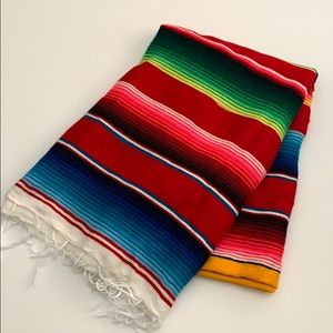 Mexican throw blanket